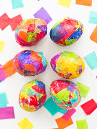 paper easter eggs sparkly diy glitter and tissue paper easter eggs