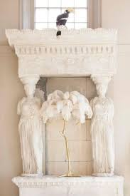regency sculptural ostrich feather palm tree floor l