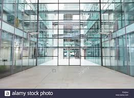 empty modern lobby of a large corporate business stock photo