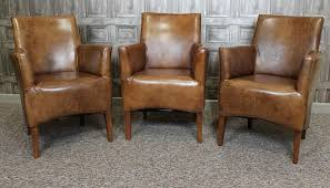 Leather Armchairs Vintage Small Leather Armchair