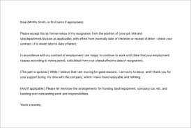 notice of resignation letter template u2013 10 free word excel pdf