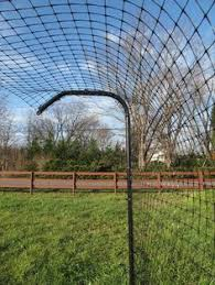 Types Of Fencing For Gardens - double fence for protecting veggie garden from deer for the