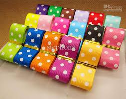polka dot ribbon 2017 mix color grosgrain ribbon polka dots printed diy hairbow