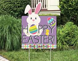 outdoor easter decorations easter yard decor etsy