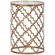 Quatrefoil Side Table Quatrefoil Gold Glass Side Table Glass Side Tables Quatrefoil