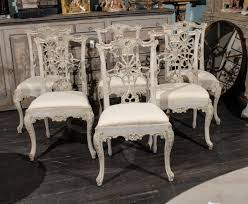 Set Of  Italian Chippendale Style Painted Wood Chairs At Stdibs - Chippendale dining room