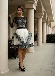 brautkleid schwarz weiss schwarz weiß hochzeitskleid kurze brautkleid mit tonena