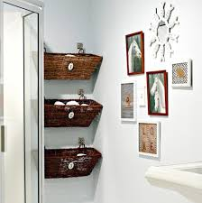 wall decor for bathroom ideas finished wicker baskets and decorative bathroom wall