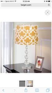 gold lined white linen lampshade target lighting pinterest