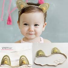 toddler hair accessories gold color elastic baby hair accessories toddler rabbit