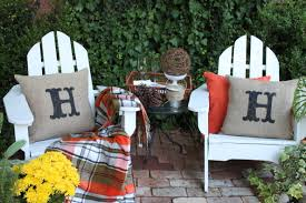 Fall Outdoor Pillows by Opulent Cottage Our Fall Back Patio And A Painted Initial Burlap