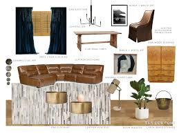family room redesign mood board and design plan