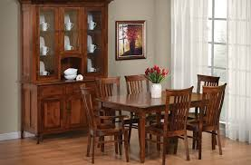 big valley hardwood dining room set countryside amish furniture