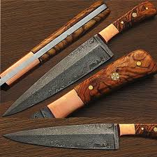 damascus steel kitchen knives custom handmade damascus steel chef knife olive wood handle 1 edge