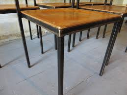 industrial plywood stacking chairs from mauser set of 4 for sale price per set