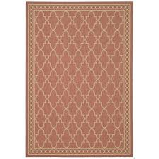 All Weather Outdoor Rugs Safavieh Courtyard Trellis All Weather Rust Sand Indoor Outdoor
