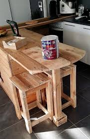 Pallet Furniture Kitchen Repurposed Pallet Kitchen With Attached Seating Wood Pallet