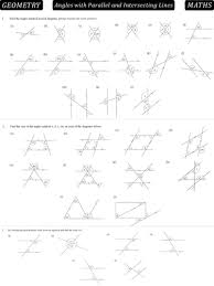 angles in parallel lines by danbar1000 teaching resources tes