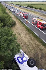 british coach carrying 34 children from essex crashes in