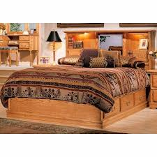 Bookcase Headboard With Drawers Furniture Country Heirloom Queen Platfom Pedestal Base With 6