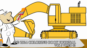 trucks for kids speed painting coloring page excavator
