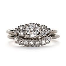 vintage wedding ring sets vintage engagement ring set vintage wedding band hazel