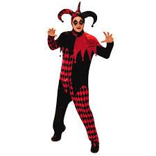 Mens Clown Halloween Costumes Fancydressvip Deranged Jester Clown Fancy Dress Costume 17 99