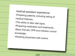 How To Right A Resume For A First Job by How To Write A Resume For A Medical Assistant Job 10 Steps