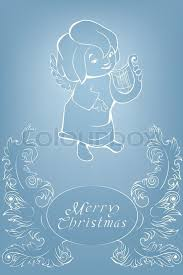 carol singing christmas angel rich decoration floral baroque