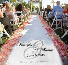 aisle runners for weddings wedding aisle runner design custom logo monogram includes free