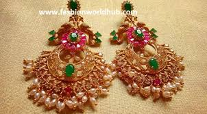 top 5 beautiful one gram gold earrings designs 2017