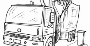 garbage truck coloring pages crayon action coloring pages