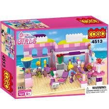 amazon com cogo dream girls house building bricks blocks playset