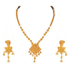 golden jewelry necklace images Bridal gold jewellery sets online buy gold earrings online png