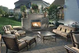 creative outside fireplace ideas covered backyard outdoor