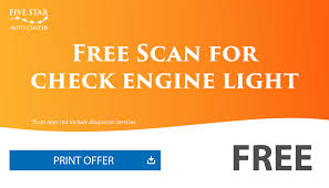 free check engine light test near me coupons five star auto center