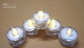 submersible led tea lights 2018 new led submersible waterproof tea lights wedding party floral