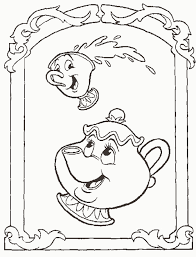 beauty beast coloring pictures disney characters coloring