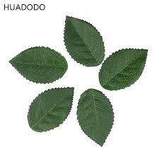 huadodo 100pieces green artificial leaf flowers simulation silk