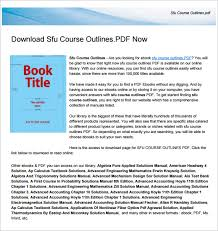 training course outline template u2013 15 free free word pdf format