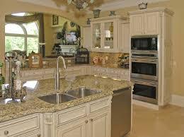 granite countertop beech table vase flower kitchen