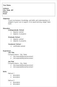 Work Resume Template by College Resume Template Gfyork