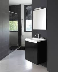 wall hung washbasin cabinet wooden contemporary with mirror