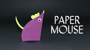 paper mouse easy fun craft ideas for kids u0026 preschoolers youtube