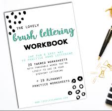 40 hand lettering worksheets for planners tns bujos u0026 crafts