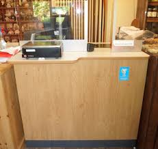 Commercial Reception Desks by Post Office Approved Local Open Plan Counter Shop Office