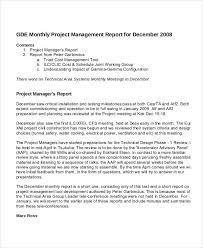 Monthly It Report Template For Management by Project Management Report Templates 7 Free Pdf Format