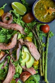 Healthy Steak Dinner Ideas California Steak Salad With Chimichurri Dressing Easy Healthy