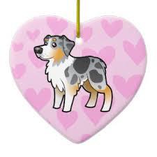 australian shepherd ornament kawaii dog christmas decorations u0026 christmas décor zazzle com au