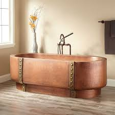 Copper Decorations Home by Tokoro Double Wall Copper Freestanding Tub Bathroom